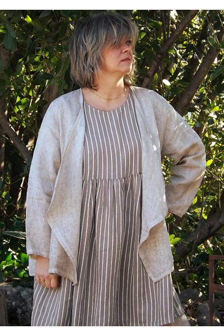 Veste femme en lin grande taille