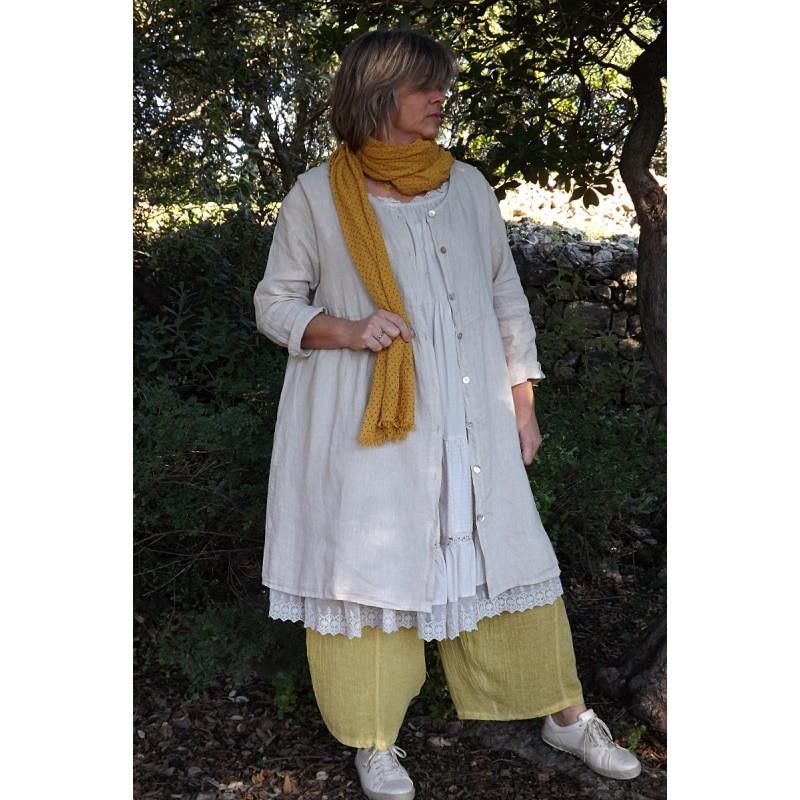 Veste longue grande taille en lin - Le dressing de bea ...