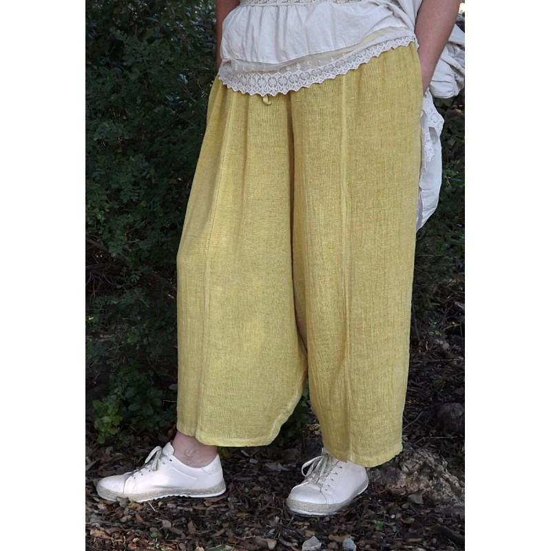 Pantalon en lin et coton grande taille - Le dressing de bea ...