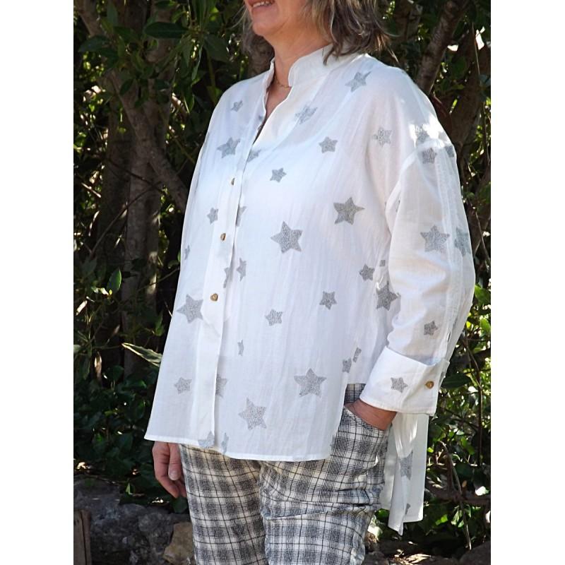 Chemise coton avec des toiles brod es - Le dressing de bea ...