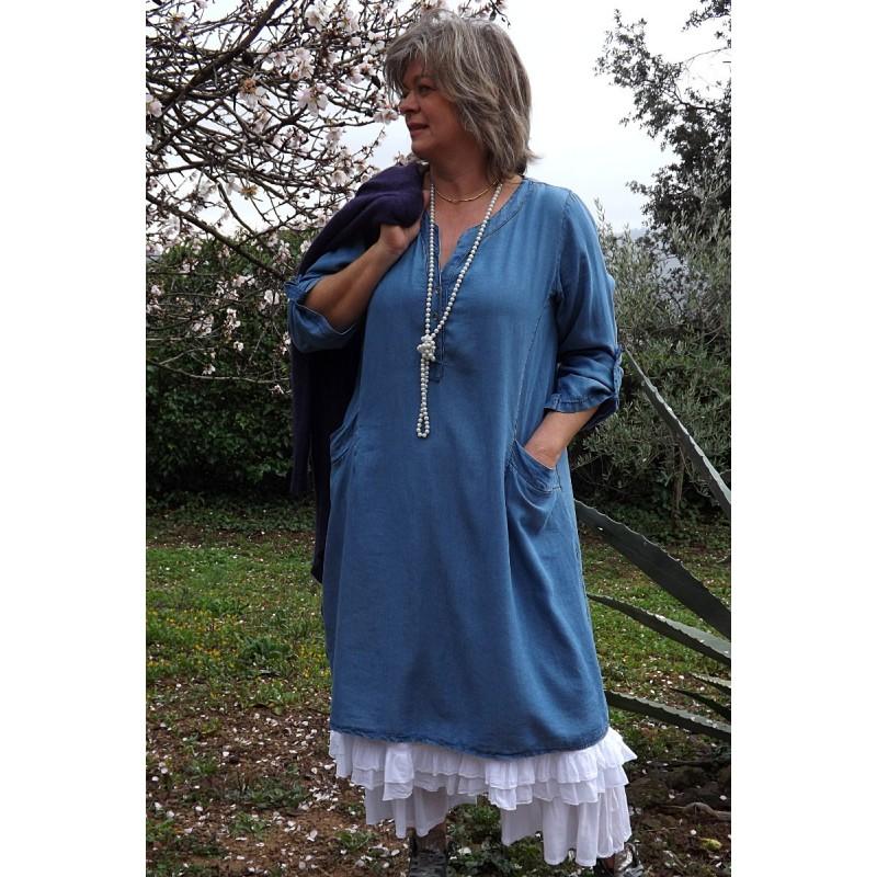 Robe grande taille en tencel - Le dressing de bea ...