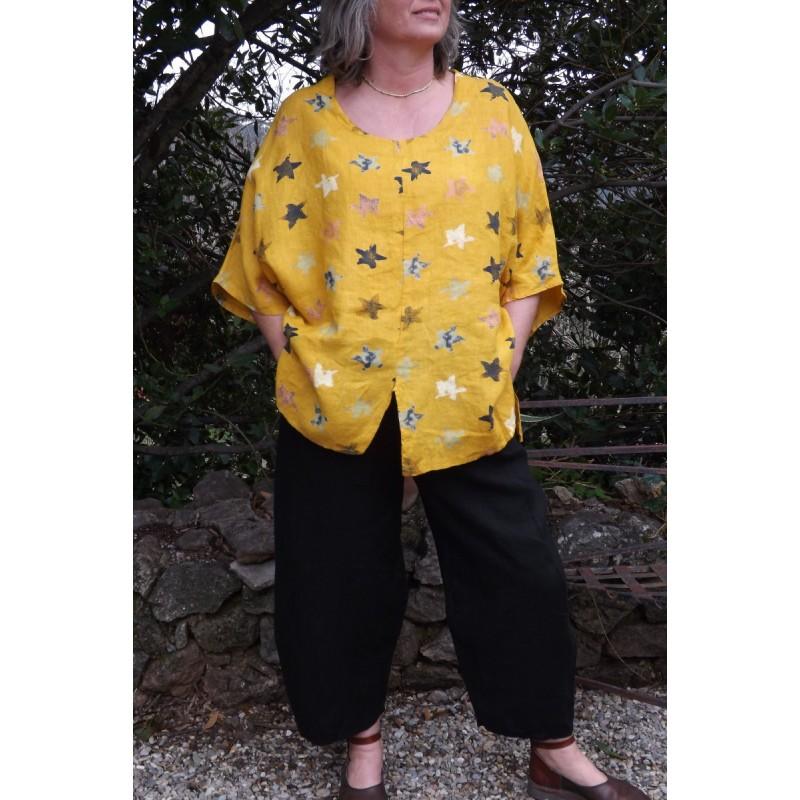 Pantalon en lin grande taille panty et pantalon coton grande taille - Le dressing de bea ...