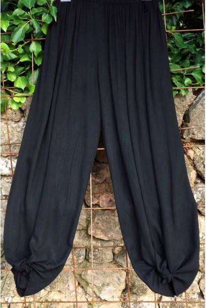 Pantalon grande taille noir Victor