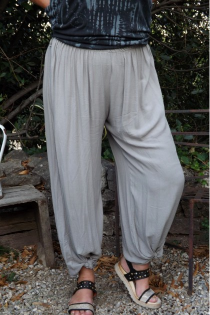 Pantalon grande taille taupe Victor