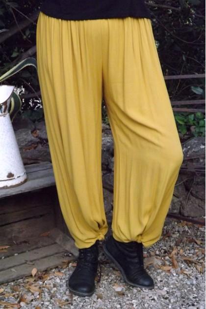 Pantalon grande taille safran Victor