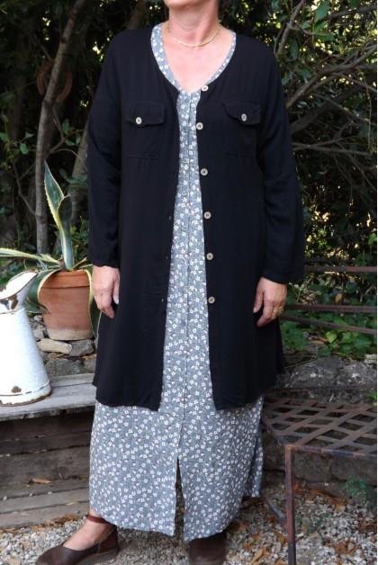 Robe ou veste manches longues Sab noire