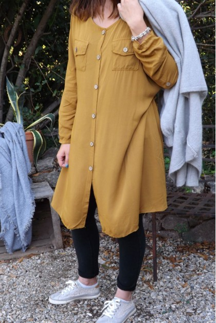 Robe ou veste manches longues Sab safran