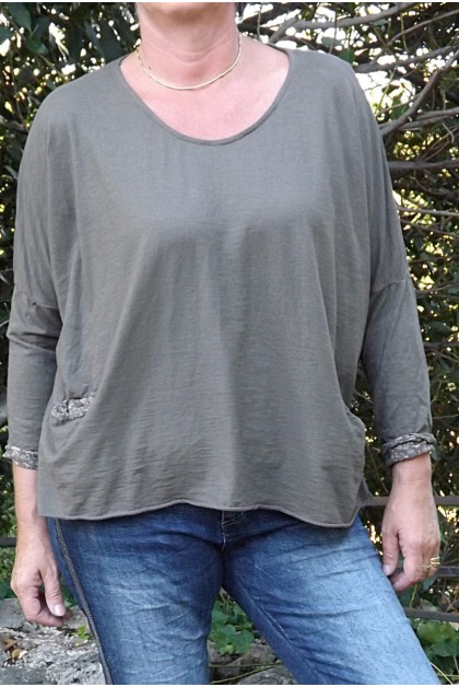 T-SHIRT FAB TAUPE