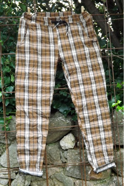Pantalon jegging carreaux caramel José