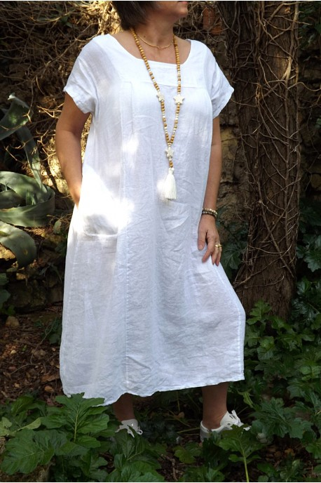 Robe Longue Blanche Lin 64 Remise Www Boretec Com Tr