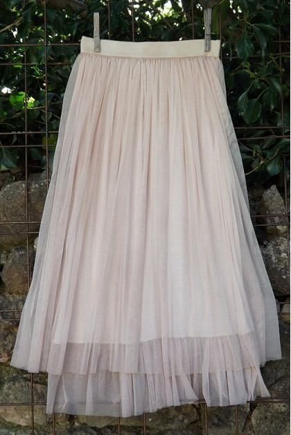 JUPON TULLE ROSE POUDRE FLORENT