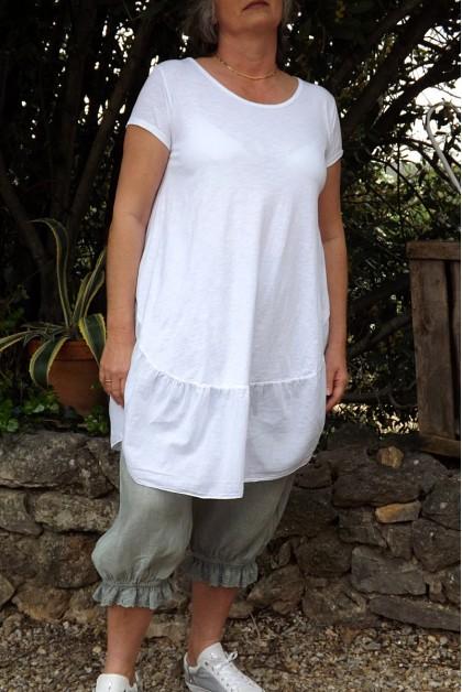 Robe ou tunique coton blanche Sylvia