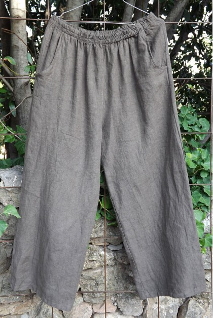 Pantalon lin taupe Marius