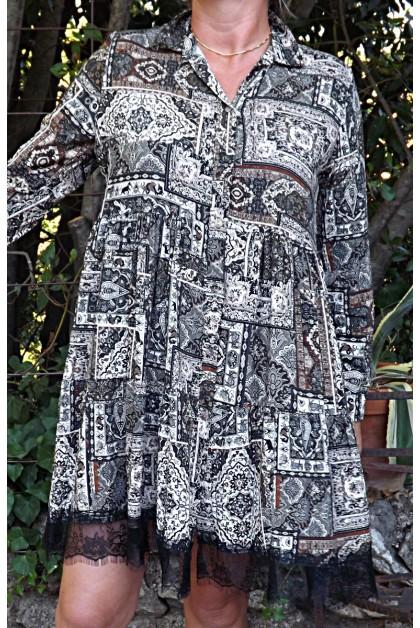 Robe ou tunique manches longues Nadège
