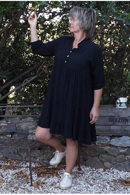 Robe ou tunique manches longues Ines noire