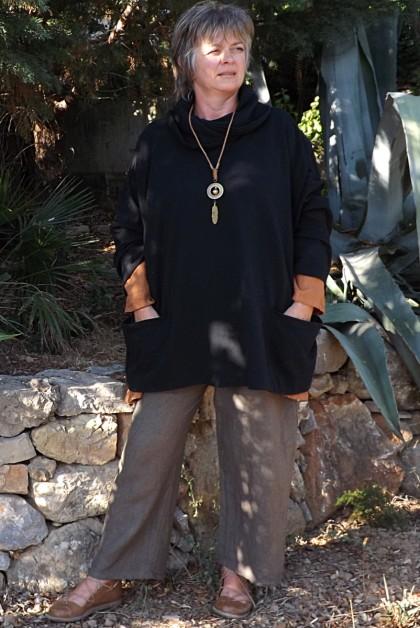Tunique ample noire Nina