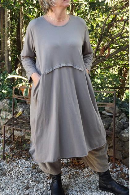ROBE COTON GRANDE TAILLE CLOTILDE