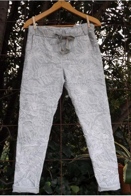 Pantalon jegging à taille élastique jean