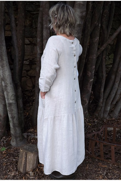 Robe longue lin Cassandre beige