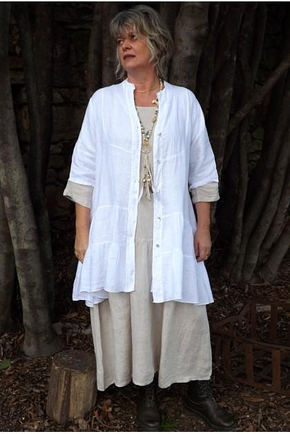 Veste ou tunique lin Eugénie et robe Cassandre.