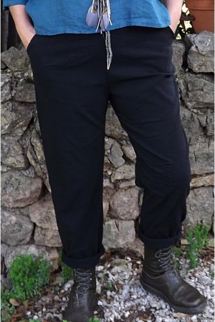 Pantalon grande taille gaston noir