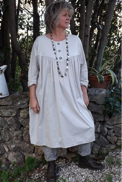 Robe grande taille Hélène beige