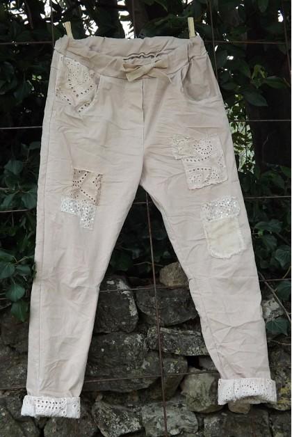 Pantalon Lenny vieux rose