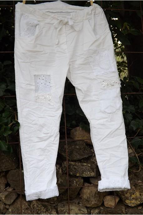 Pantalon Lenny blanc