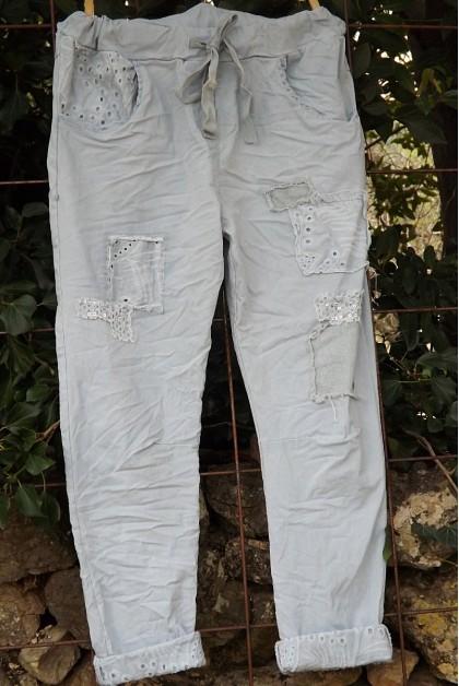 Pantalon Lenny bleu clair