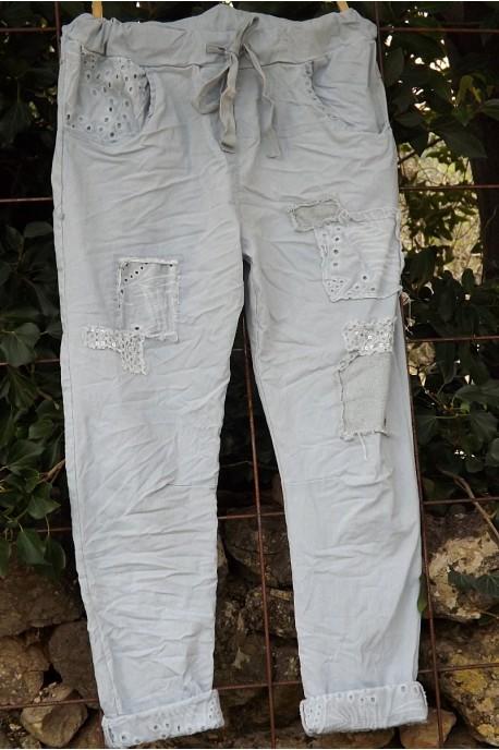 Pantalon Lenny gris perle