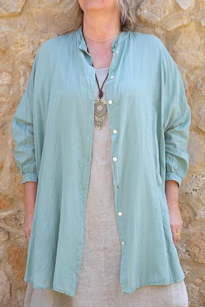 Liquette coton Coco jade et robe lin Eurydis