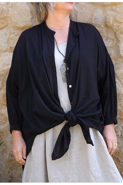 Liquette coton Coco noire et robe Eurydis