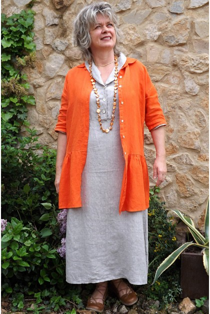 Veste en lin Garance orange