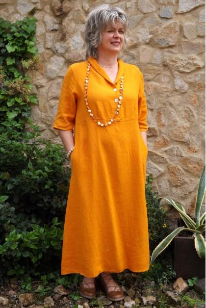 Robe longue lin clèmentine Bérangère