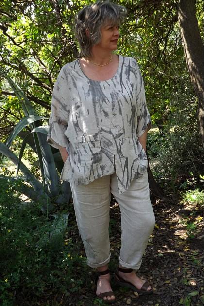 Tunique lin grande taille Candice