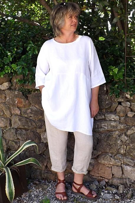 Tunique lin blanche Emma et pantalon gabriel