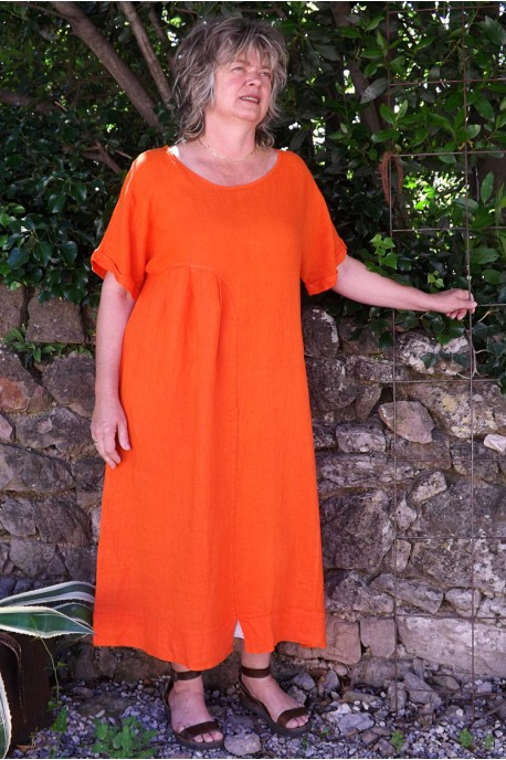 Robe lin Eurydis orange