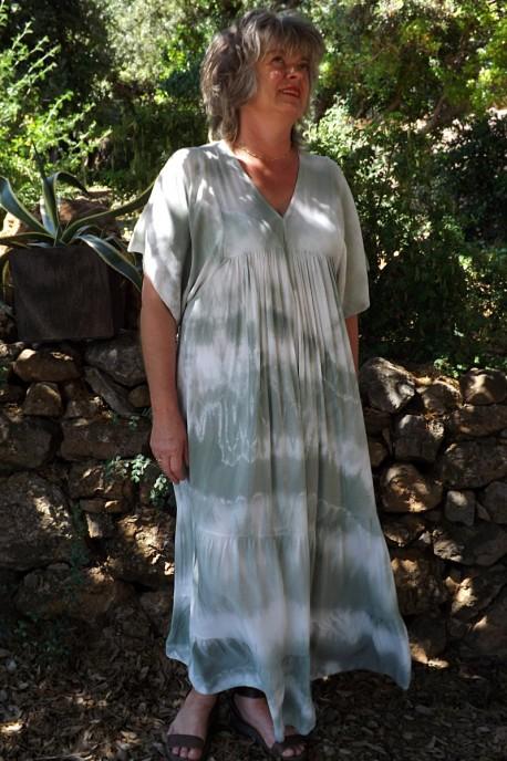 Robe Anastasia Oversize Tie and Dye kaki