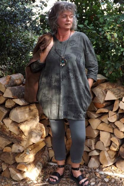 Tunique coton kaki Adélie