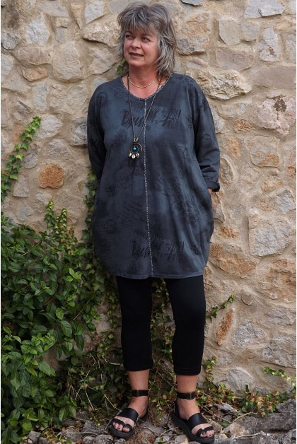 Tunique coton anthracite Adélie