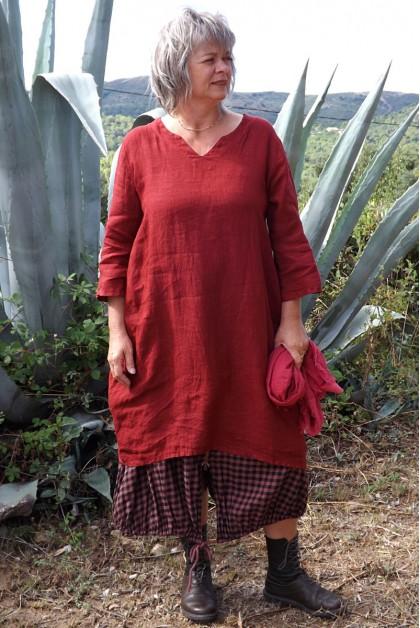 Robe lin Audrey garance