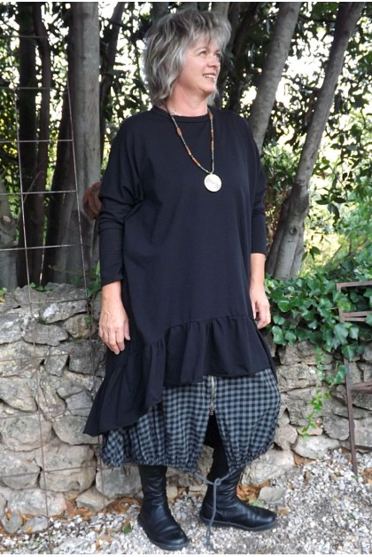 Robe grande taille Marion noire