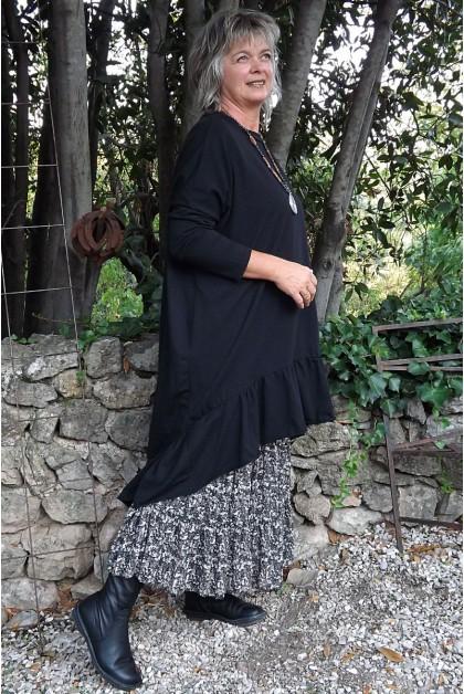 Jupe longue imprimé fleuri Marlène et robe Marion