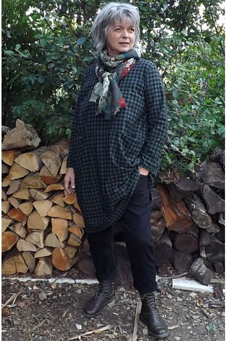 Robe coton Angèle kaki et pantalon Gaby