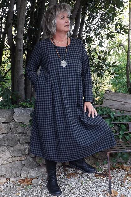 Robe en coton Augustine grise