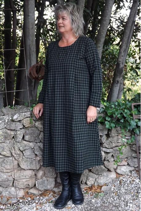 Robe en coton Augustine kaki