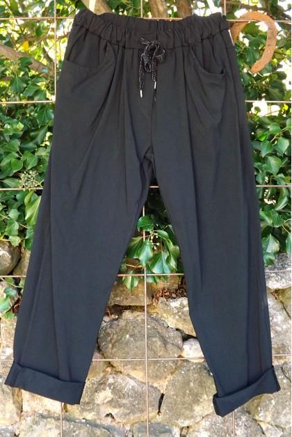 Pantalon grande taille 46 à 54 Lucien noir