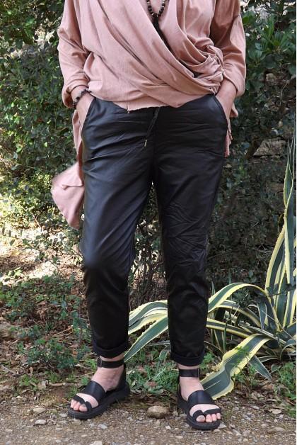 Pantalon noir grande taille Joe