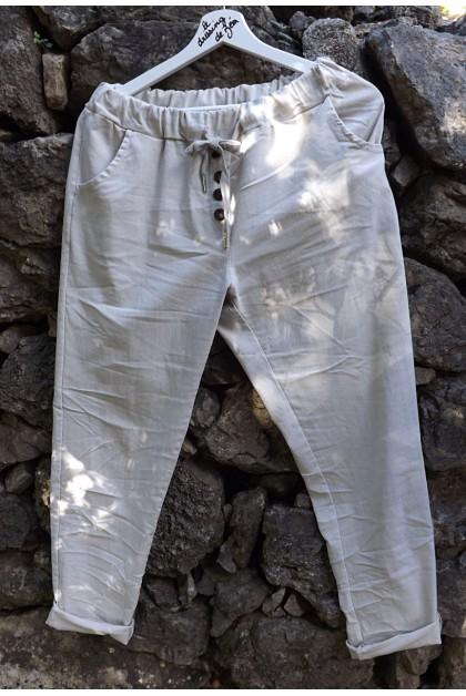 Pantalon beige Alix