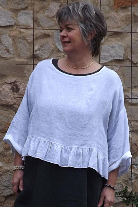 Top lin blanc Celestin et pantalon lin Gabriel